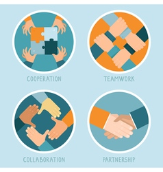 Teamwork and cooperation concept vector