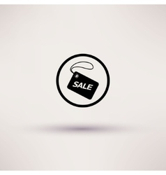 Icon of sale tag isolated vector