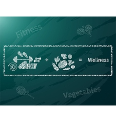 Wellness math vector