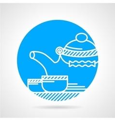 Tea ceremony round icon vector image