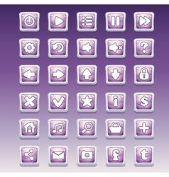 Big set of square buttons with different glamorous vector
