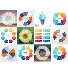 Circle arrows infographics set template for cycle vector