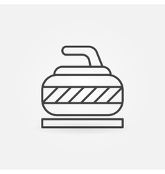 Curling thin icon vector