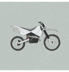 Enduro bike motocross vector