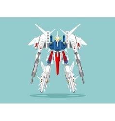 Military robot transformer vector
