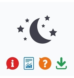 Moon and stars sign icon Sleep dreams symbol vector image