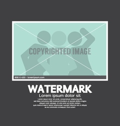 Watermark sign on photo vector