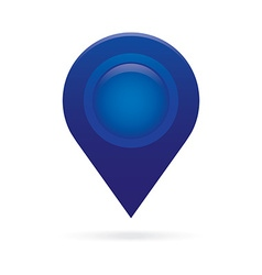 Blue map pointer icon marker gps location flag vector