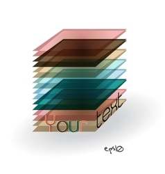 Multicolor abstract logo rectangle vector