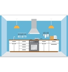 Kitchen wall interior vector