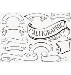 Calligraphic banner set vector