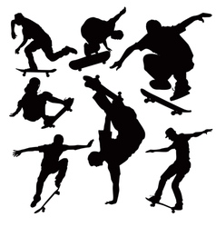 Skateboarders vector