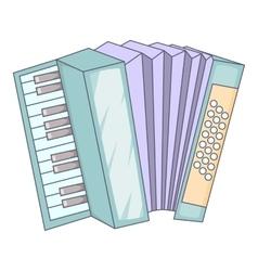Accordion icon cartoon style vector image