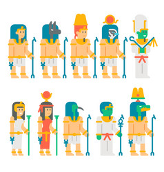 ancient egyptian gods set cartoon design vector image