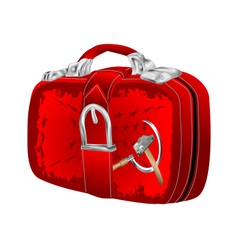Bag with soviet flag vector