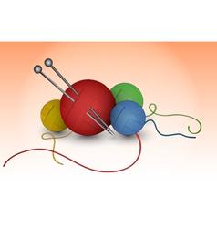 Balls of wool vector