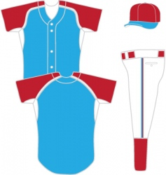 baseball uniform vector image vector image