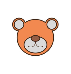 bear face cartoon animal vector image vector image