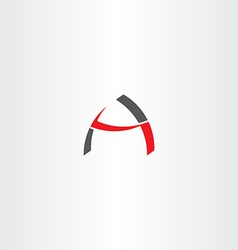 Black red logotype letter a sign icon element vector