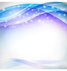 Blue blurs with snowflakes vector image