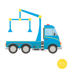 Cartoon transport tow truck vector
