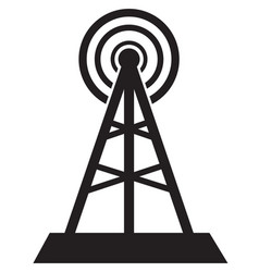Communication tower icon isolated in white vector