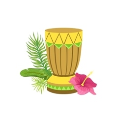 Craft Drum Hawaiian Vacation Classic Symbol vector image