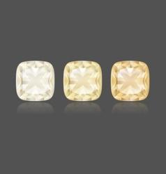 Cushion yellow diamond vector