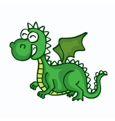 Dragon cute smiling happy toy for kids vector