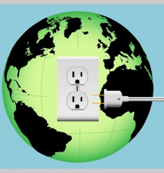 electric plug vector image