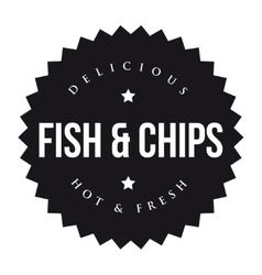 Fish and chips vintage black stamp vector