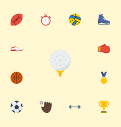 flat icons basket ice boot trophy and other vector image vector image