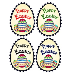 Four easter stamps vector