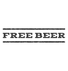 Free beer watermark stamp vector