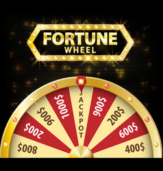 gold realistic wheel of fortune 3d object isolated vector image vector image