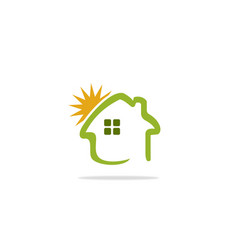 home summer sunny logo vector image vector image