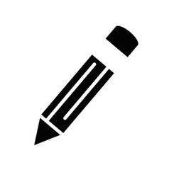 Isolated black icon pencil vector