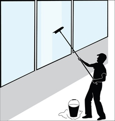 Large window washer vector