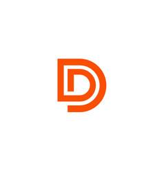 Letter d logo line design abstract logo icon des vector