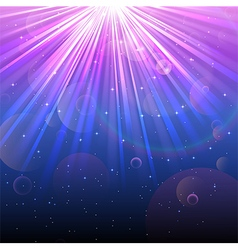 Lights of blue and purple background vector image vector image