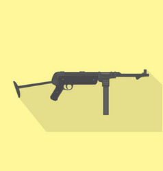 mp40 german submachine gun world war 2 classic vector image