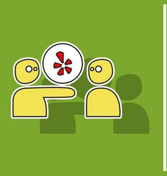 Network restaurant review social yelp icon vector