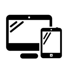 Personal computer and tablet vector image