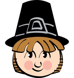 Pilgrim cartoon vector image vector image