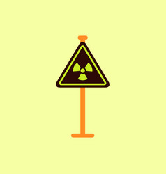 Road sign with an radioactive symbol vector