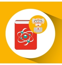 Scientist chemistry concept atom design vector