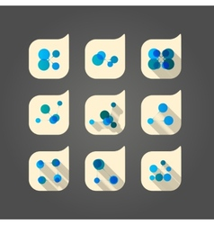 Set dna and network icon vector