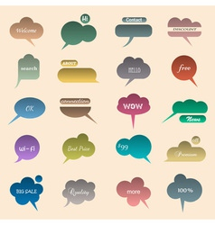 Collection of various bubbles for speech vector