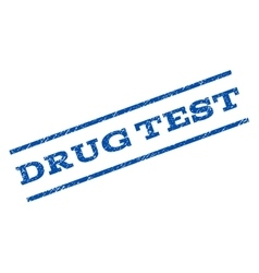 Drug test watermark stamp vector