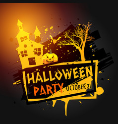 Halloween party celebration grunge background vector